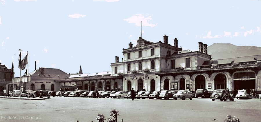 19 Grenobles old railway station, here in the 60s